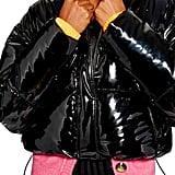 Topshop Vinyl Puffer Jacket