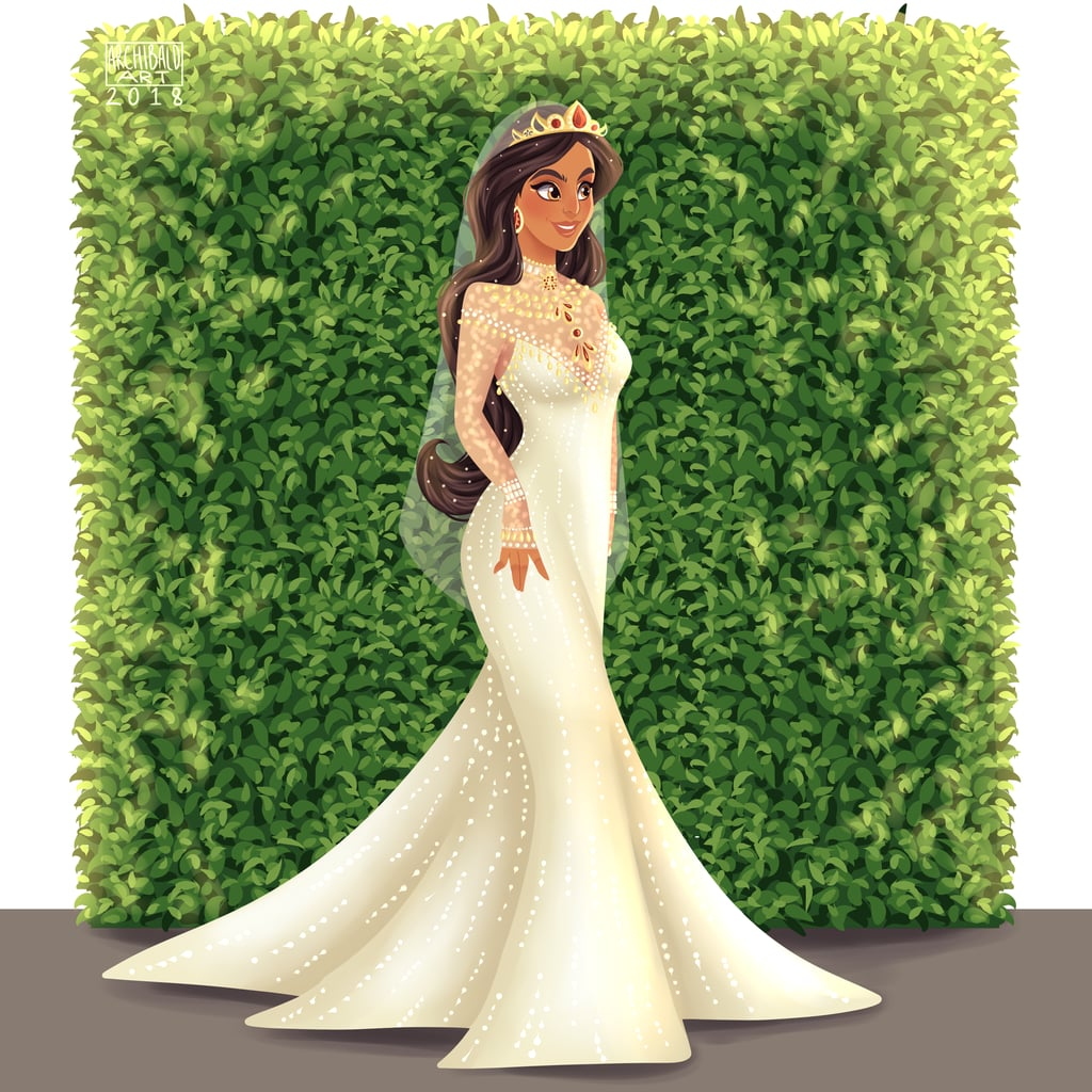 Jasmine Is Bejeweled and Beautiful in a Long-Sleeved Wedding Gown