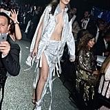 Bella Hadid Worked Her Sexy Metallic Look on the Runway