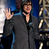 Jim Carrey spoke on stage at the Comedy Awards in NYC.