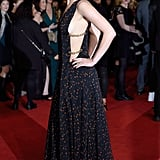 Jen showed off side boob in this chainlink Dior Couture number at the UK premiere of The Hunger Games: Mockingjay Part 2.