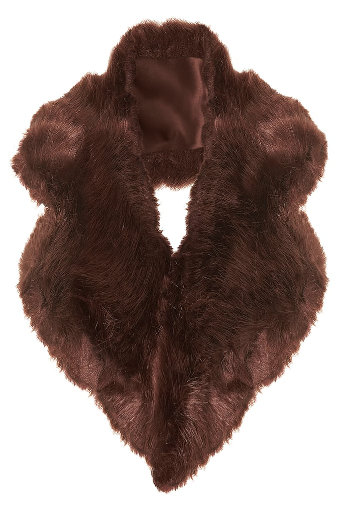Add a plush accent into your outerwear mix with this Topshop medium fur collar ($50).