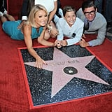 Kelly had both of her sons by her side when she received her star on the Hollywood Walk of Fame in October 2015.