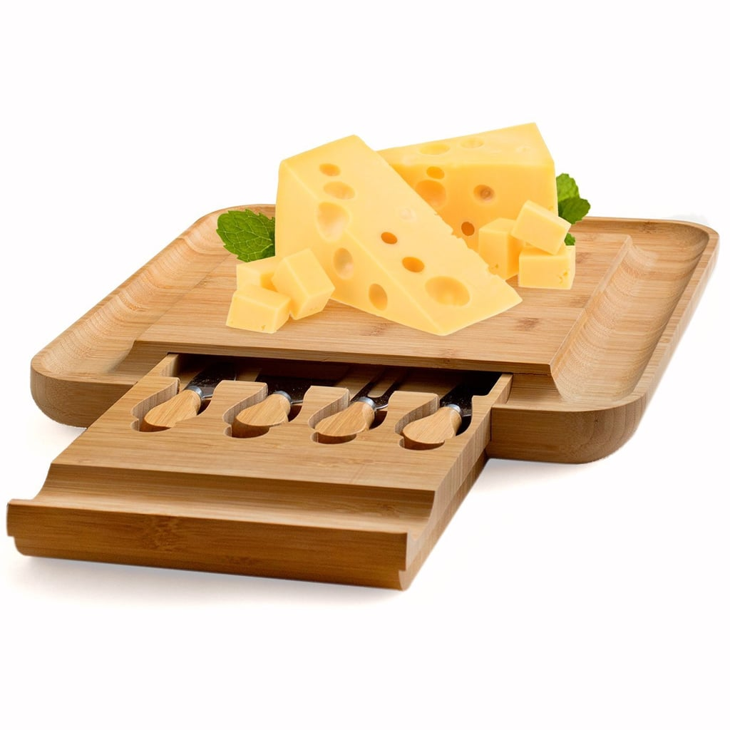 Bamboo Cheese Board With Cutlery Set ($50)