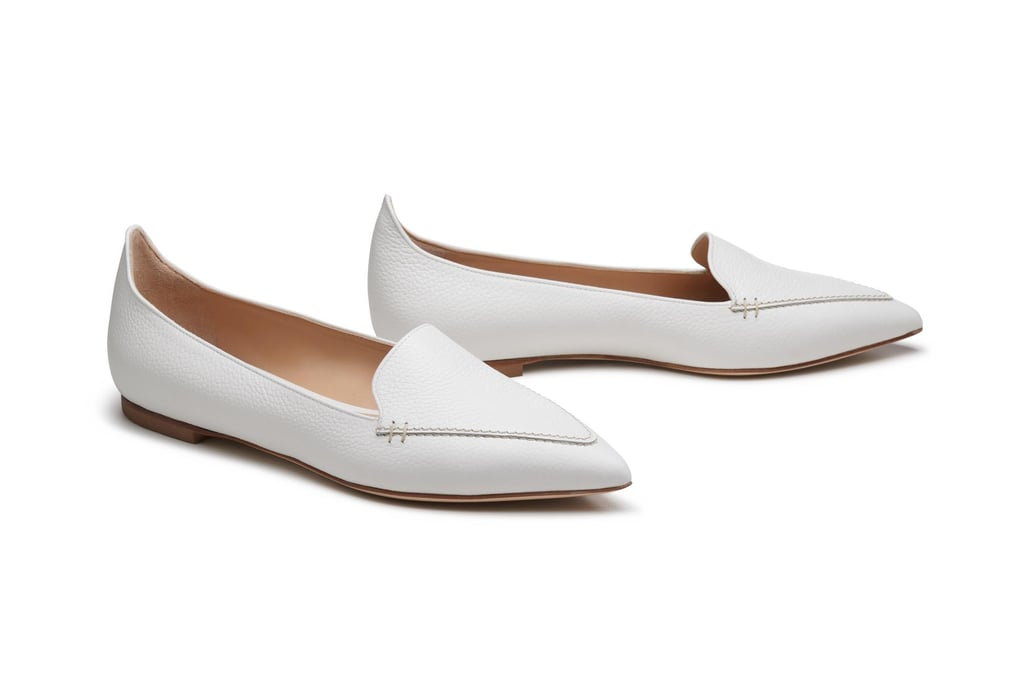 Give your Winter whites a Springtime feel with these flats by M. Gemi ($228).