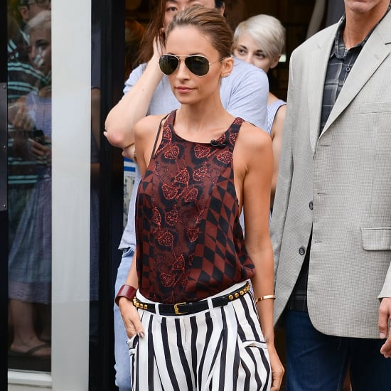 Nicole Richie Wearing Striped Pants