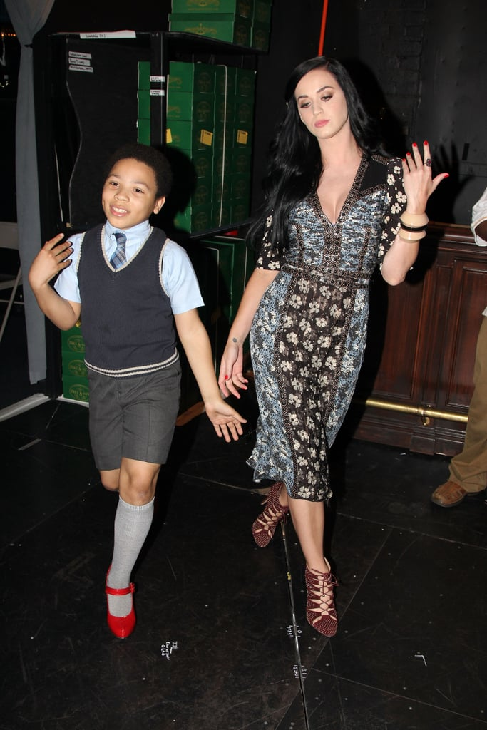 Katy Perry played around with a young Kinky Boots cast member.