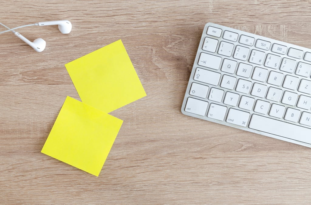 Secretly scatter Post-it notes around for each other to find.