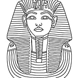 Get the coloring page: King Tut