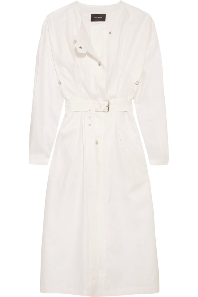 Meghan Markle's Line the Label White Trench Coat | POPSUGAR Fashion