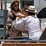 Tom Cruise Celebrates Father's Day on a Yacht With Katie and Suri