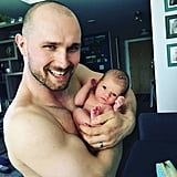 The way this dad is showing off his little babe is too cute!