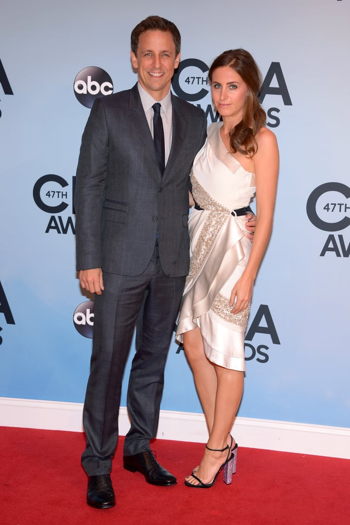 Seth Myers and his wife, Alexi Ashe, made an adorable pair on the CMAs red carpet.