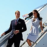 Prince William and Kate Middleton touch down at LAX.