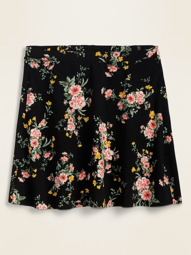 Old Navy Printed Flutter Mini Skirt