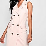 Boohoo Tall Frida Sleeveless Military Blazer Dress