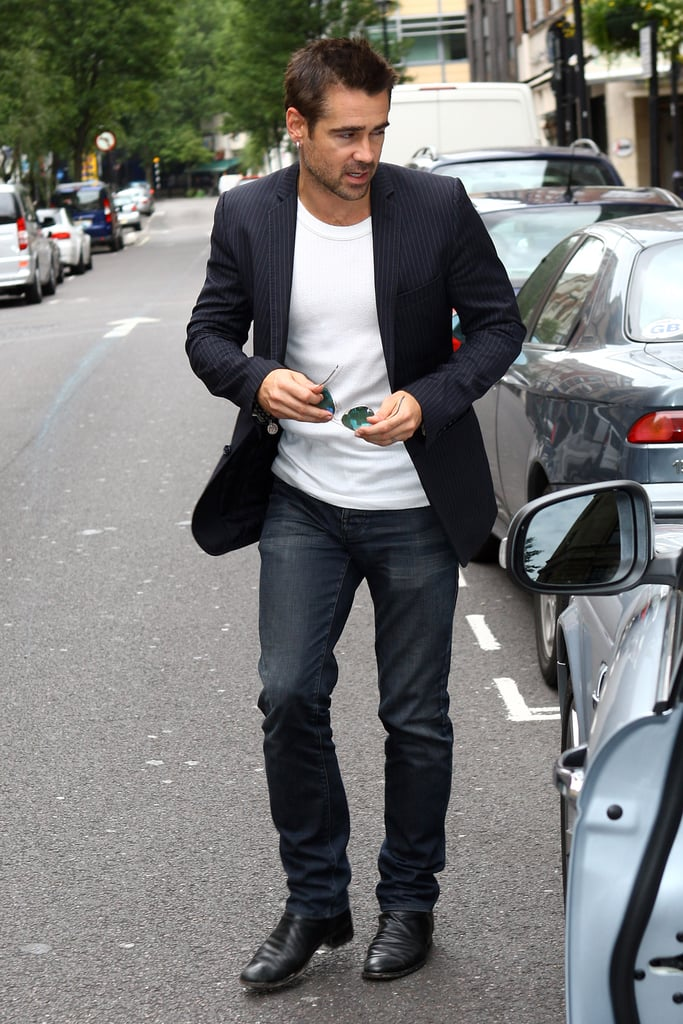 Colin Farrell stepped out in London.