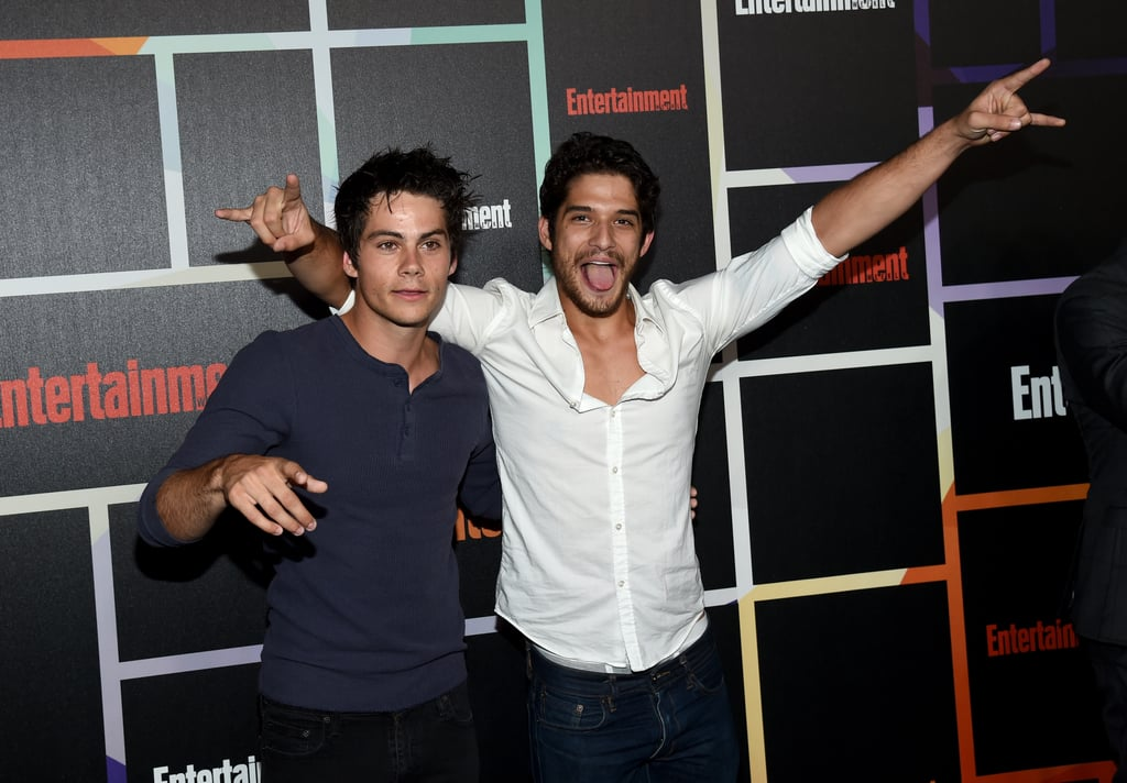 On Saturday, Teen Wolf stars Tyler Posey and Dylan O'Brien goofed around at the Entertainment Weekly party.