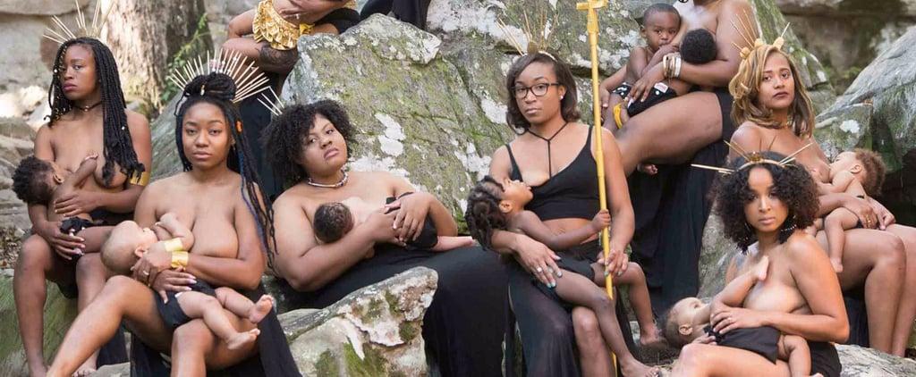 Women of Colour Breastfeeding Photo Shoot