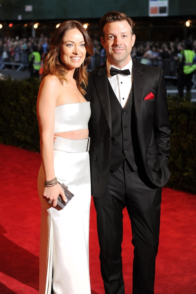 Olivia Wilde and Jason Sudeikis were dressed to the nines together for the May 2013 Met Gala in NYC.