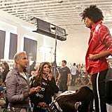 Jay Manuel and La Toya Jackson were impressed with the energy that Bianca brought to the set.  Photo courtesy of CW