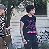Harry Styles left Taylor Swift's home in LA.