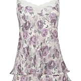 French Designed Rose Lace Printed Camisole with Silk (£35) and Pure Silk Rose Print French Knickers (£17.50)