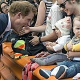 When He Shared a BIG Yawn With A Baby in New Zealand