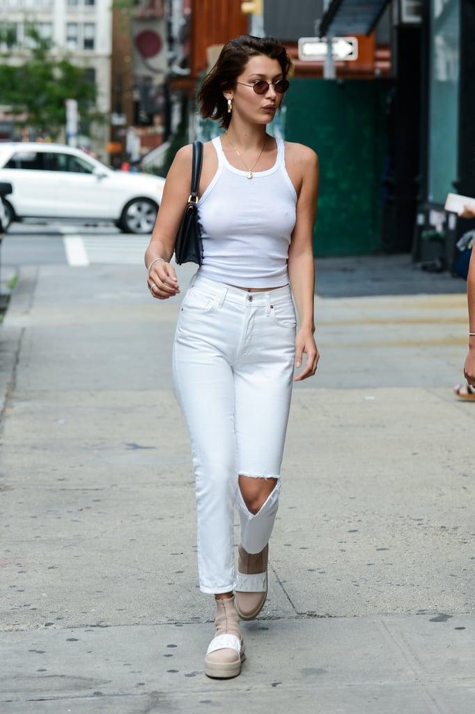 Bella Hadid's Sneakers | POPSUGAR Fashion