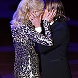 The two shared a passionate kiss at the 2018 American Songbook Gala in NYC.