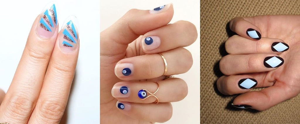 Something Blue Wedding Nail Ideas