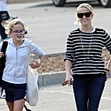 Reese Witherspoon was entertained by Ava Phillippe's story in LA.