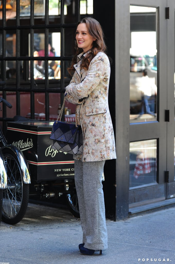 Leighton Meester on the Gossip Girl Set in NYC | Pictures