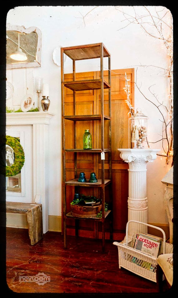 This rustic metal and barnwood bookcase ($495). It's made from reclaimed wood and would be a great place for anyone on your gift list to store books or other knickknacks. —Molly Goodson, VP of content