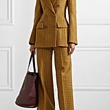 Khaite Darla Checked Wool Blazer