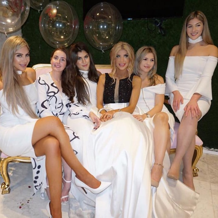 khadijeh mehajers bridal shower dresses popsugar fashion