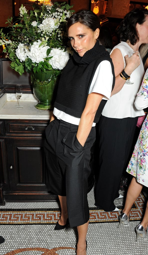 Victoria Beckham attended the British Vogue dinner for London Fashion Week.