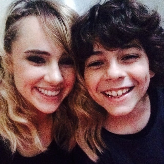 Suki Waterhouse (Marlene) and Emjay Anthony (Hector) are two of the newest stars who were cast in Insurgent, and they bonded with a picture.