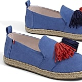 Clare V. Blue Denim Deconstructed Alpargata Shoes
