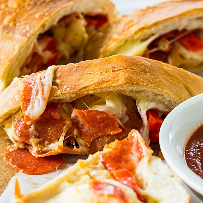 Pepperoni and Peppers Stromboli