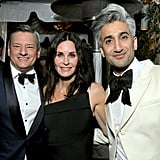 Ted Sarandos, Courteney Cox, and Tan France at the Netflix Oscars Party