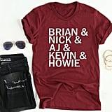 Backstreet Boys Band Names Shirt