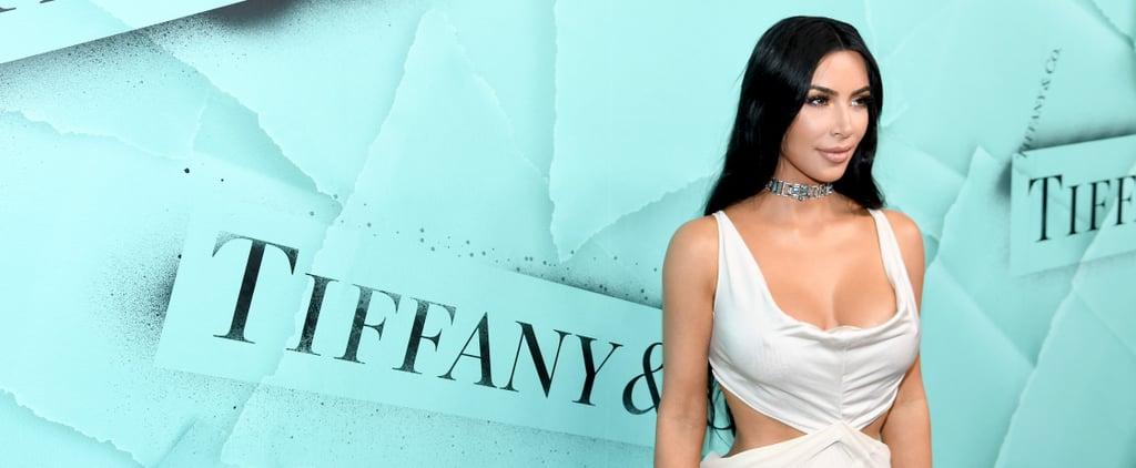 Kim Kardashian White Dress and Tiffany & Co. Choker 2018