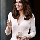 The duchess chose the L.K. Bennett 'Nina' for a Vogue exhibition earlier this year.