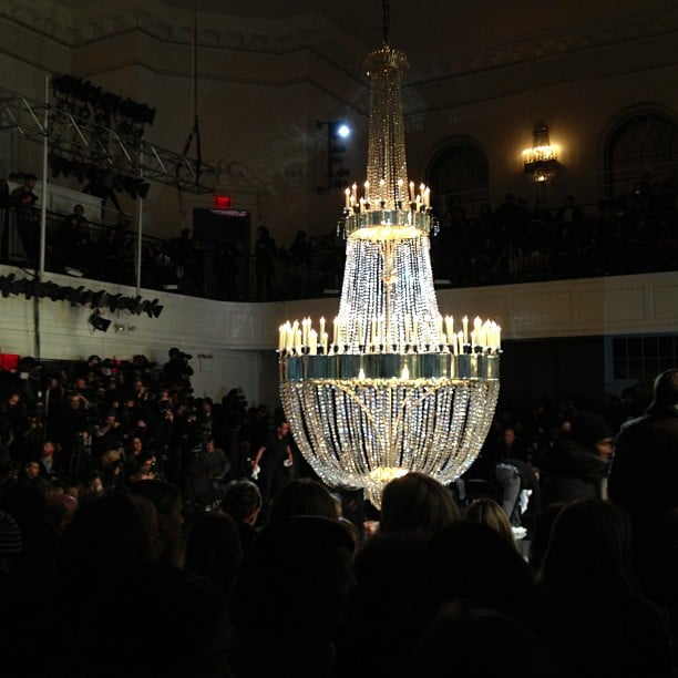 The chandelier at Jason Wu.