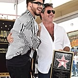 Adam Lambert and Simon Cowell