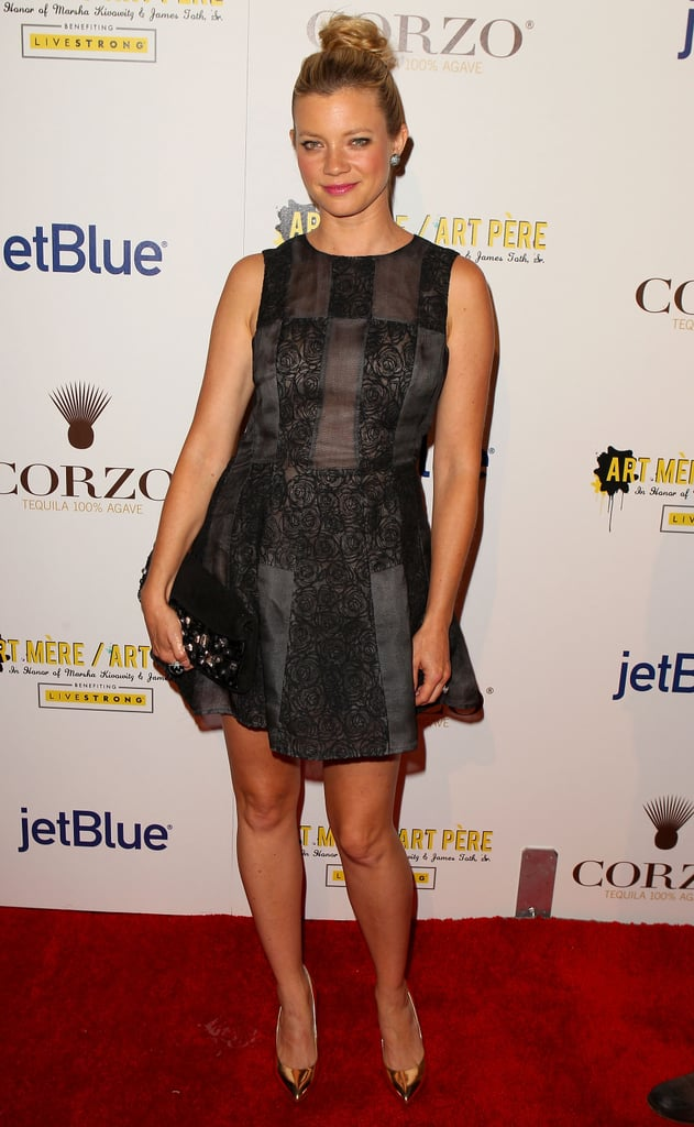 Amy Smart at the second annual Art Mere/Art Pere Night at Smashbox West Hollywood.