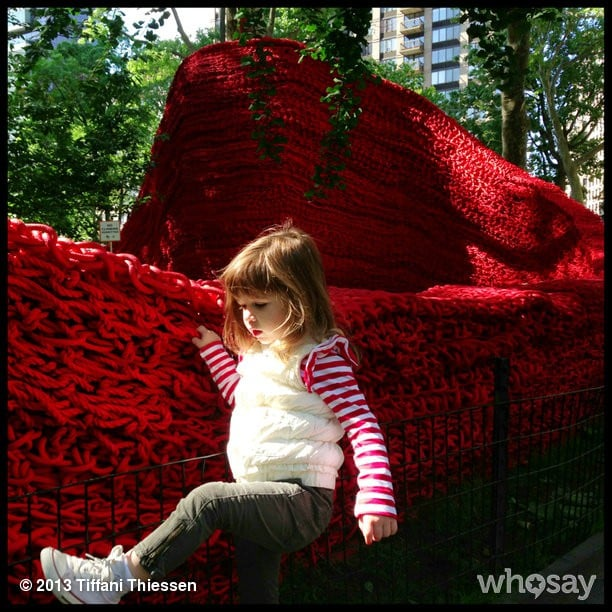 Harper Smith enjoyed Orly Genger's art installation in NYC's Madison Square Park.  Source: Instagram user tathiessen