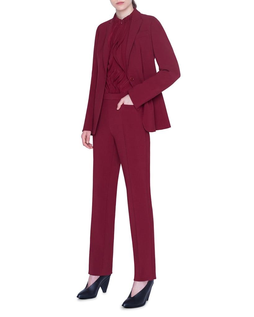 Zoey Deutch's Akris Suit