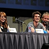 Emma Stone, Andrew Garfield, and Rhys Ifans joked around with the crowd.